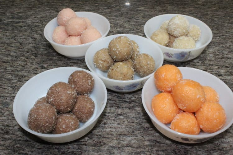flavored coconut ladoo