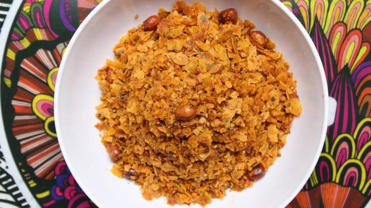 instant khakhra chivda recipe