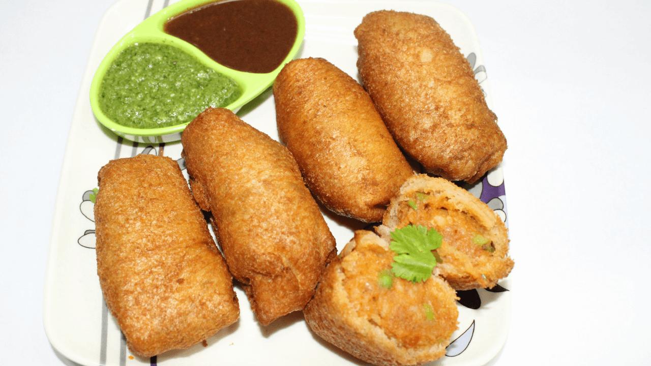 Bhaji Pav Roll Recipe - Unique Recipe Of Bhaji Pav Twist