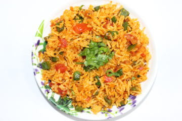 Veg Tadka Rice Recipe
