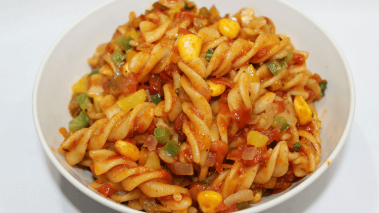 red sauce indian style pasta