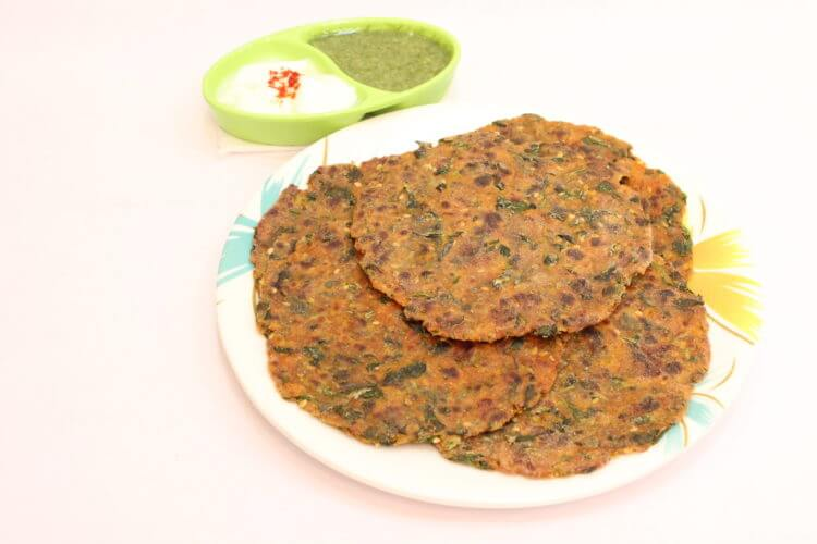 methi thepla - methi dhebra recipe