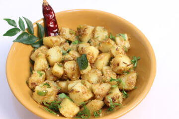 white jeera aloo subji recipe