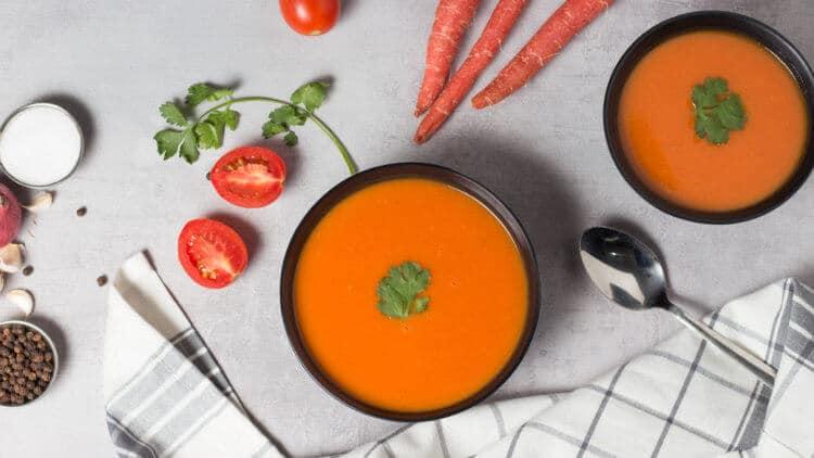 carrot gajar ka soup