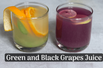 green and black grapes juice