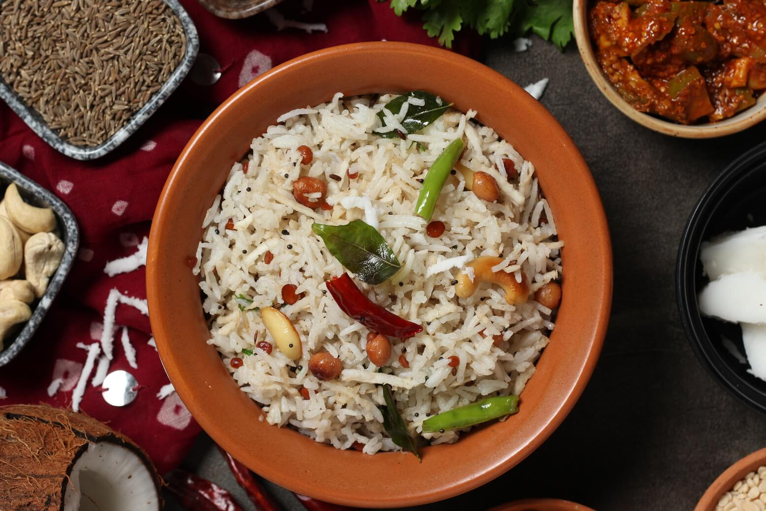 Coconut Rice Recipe Thengai Sadam South Indian Special Indian Vegetarian Recipes By Siddhi Quick Recipes Cooking Ideas