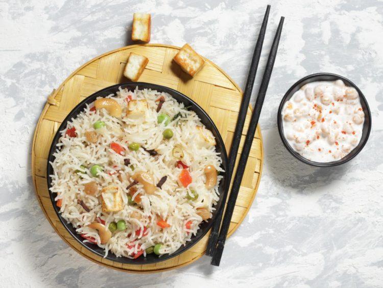 veg white pulao