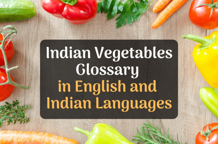 indian vegetables glossary