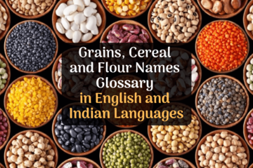 glossary of grains cereal and flour names