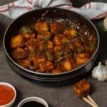restaurant style chili paneer